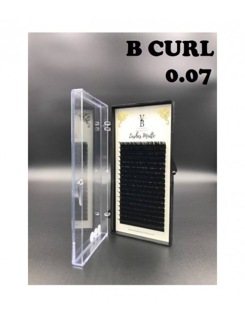 Venus Beauty Matte Lashes B Curl 0.07