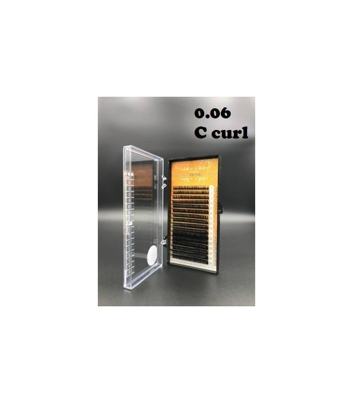 Premium mink lashes C curl 0.06